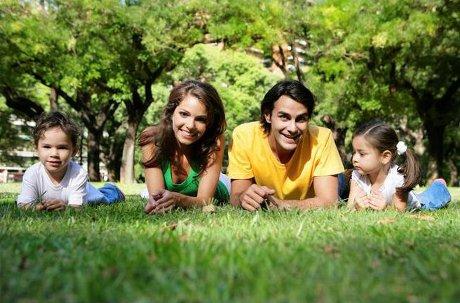 семья на природе